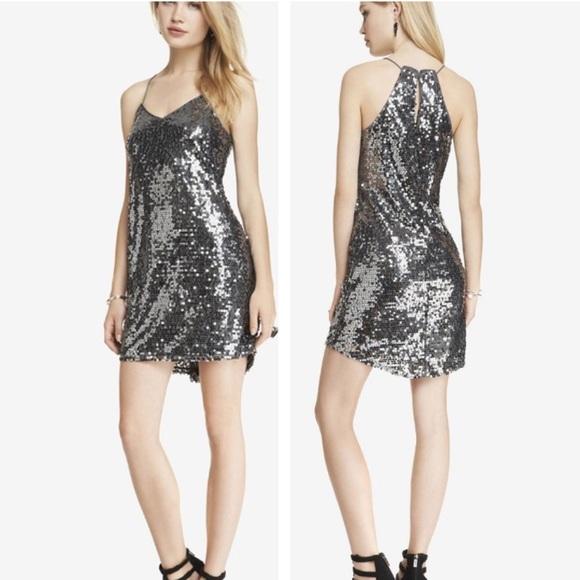 Express Dresses & Skirts - Express Sleeveless Metallic Sequin Cami Dress